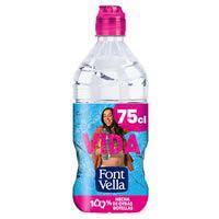 Font Vella agua mineral natural con tapón sport botella 75cl
