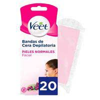 Veet Banda cera facial Easy-Gelwax pell normal 20u