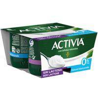 Activia bífidus Yogurt natural edulcorado sin lactosa 4x120g