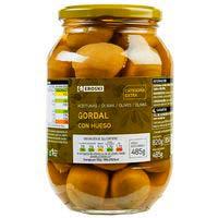 Aceitunas gordal EROSKI, frasco 570 g