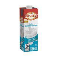 President Leche semidesnatada brik 1l