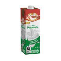 President Leche desnatada brik 1l