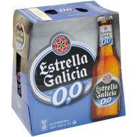 Estrella Galicia Cervesa 0,0% ampolla 6x25cl