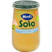 Potito eco de dorada con verduritas HERO, tarro 190 g