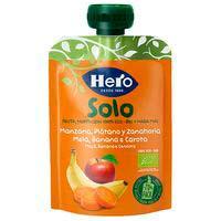 Solo fruita eco de plàtan-poma-pastanaga HERO,doypack100 g
