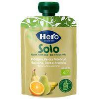 Solo fruta eco de pera-plátano-naranja HERO, doypack 100 g