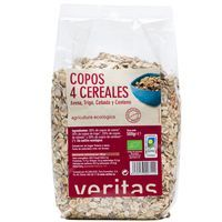 Veritas Copos 4 cereales, avena, trigo, cebada y centeno 500g