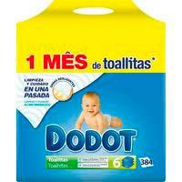 Tovalloletes paquet blau DODOT, pack 6x64 unit.