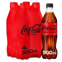 Coca Cola Zero botella pack 4x50cl