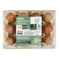 Eroski Huevos M suelo docena