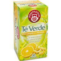 Té verde con jengibre-naranja POMPADUR, caja 20 unid.