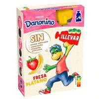 Danonino pouch de fresa y plátano Danone 4x70g