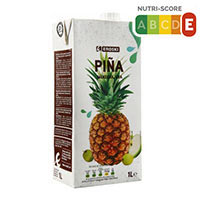 Eroski Zumo de piña/manzana/uva 1l