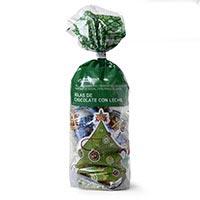 Bolas de chocolate de Navidad EROSKI, bolsa 125 g