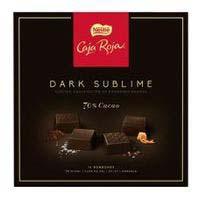 Bombones Dark Sublime CAJA ROJA, caja 114 g