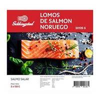 Sekkingsta Lomos de salmón Noruego 3x125g