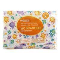 Eroski Toallita wc infantil biodegradable 120u
