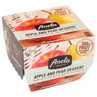 Anela Postre manzana-pera 2x100g