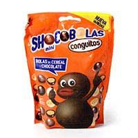 Mini shocobolas de cereal-xocolata CONGUITOS, doypack 100 g