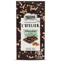 Xocolata negra amb ametlles els recettes l Atelier NESTLE 115g