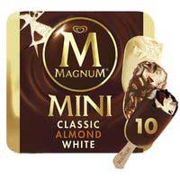 Gelat bombo mini ametllats i xocolata blanca MAGNUM 443g
