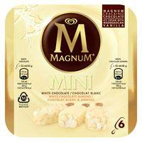 Magnum Almendra chocolate blanco mini 6u