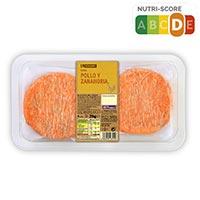 Eroski Hamburguesa de pollo y zanahoria 4u 316g
