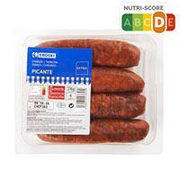 Eroski Chorizo picante sin gluten 4u 316g