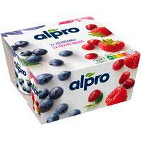 Alpro Yogur soja frutos rojos 4x125g