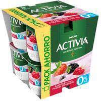 Activia Yogur 0% cremoso fruta bosque 8x125g