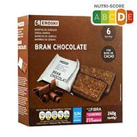 Eroski Barrita bran chocolate 240g