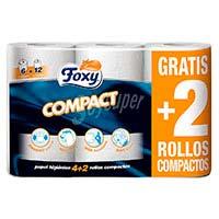 Foxy Paper higiènic compacte 6 rotlles