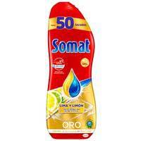 Somat Lavavajillas máquina gel limón 50d