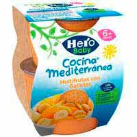 Hero Baby Fruita amb galeta 4x100g