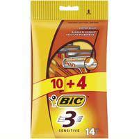 Bic 3 Sensitive maquineta d'un sol ús 10+4u