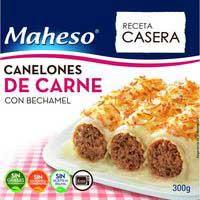 Maheso Canelones de carne con bechamel 300g
