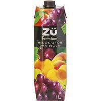 Bebida de melocotón-uva roja ZÜ , brik 1 litro
