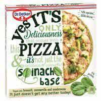 Pizza de espinacas Yes It`s DR. OETKER, caja 355 g