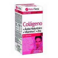 Colágeno-magnesio-ácido hialurónico NATURTIERRA, caja 250 g