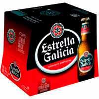 Cerveza especial ESTRELLA GALICIA, pack botellín 12x25 cl