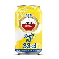 Amstel Radler Cerveza limón 0,0 lata 33CL