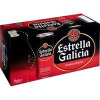 Cerveza especial ESTRELLA GALICIA, pack lata 10x33 cl