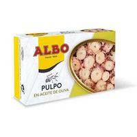 Pop en oli d'oliva ALBO, llauna 120 g