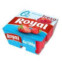 Royal Gelatina fresa 0% 4x100g