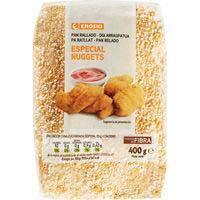 Pan rallado nuggets EROSKI, paquete 400 g