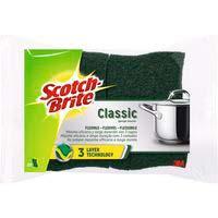 Estropajo fibra verde classic 3 capas SCOTCH-BRITE, pack 1unid.
