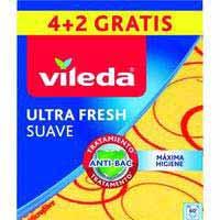 Bayeta Suave 30% Microfibras VILEDA, 35x40cm, pack 4+2 ud.