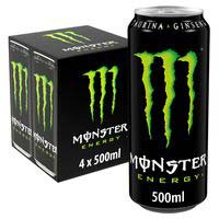 Bebida energética MONSTER, pack 4x0,50 cl