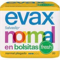 Protegeslip normal fresh plegado EVAX, paquete 20 uds