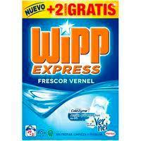 Detergente en polvo frescor Vernel WIPP, maleta 29+2 dosis